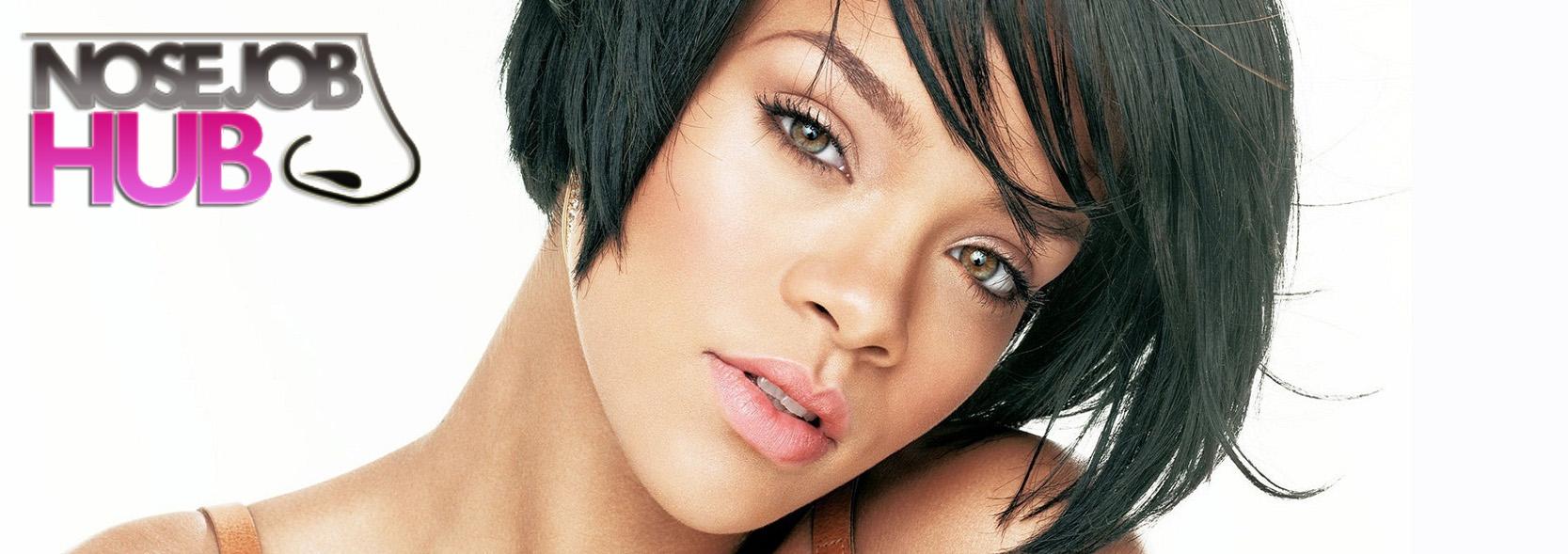 Rihanna Before and After Nose Job